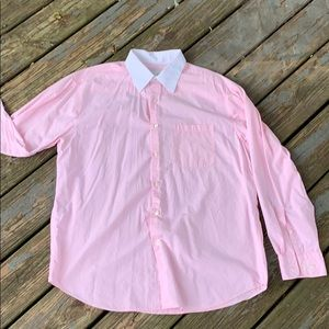 Men's perry Ellis portfolio Pink dress shirt